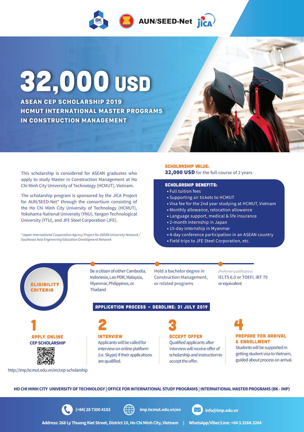 Apply Now Scholarship For International Master Program In Construction Management At Ho Chi Minh City University Of Technology Hcmut Jica Project For Aun Seed Net